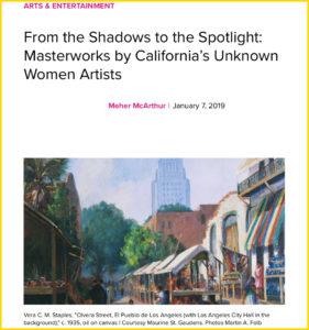 KCET, art, exhibit, women artists, pasadena, california, maurine st guadens